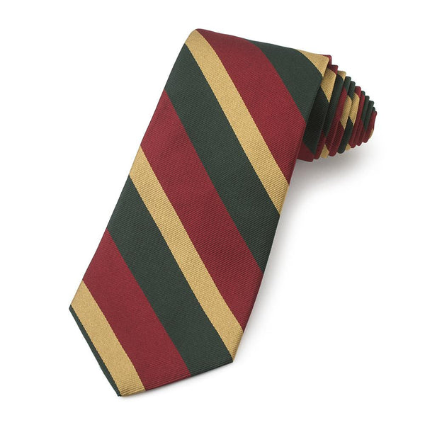 5th Royal Inniskilling Dragoon Guards Three-Fold Silk Reppe Tie - Crofton & Hall