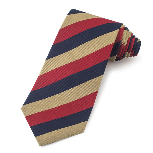 Light Dragoons Three-Fold Silk Reppe Tie - Crofton & Hall