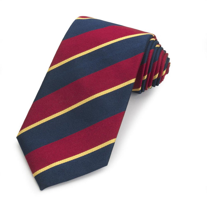 University of Wales Three-Fold Silk Reppe Tie - croftonandhall