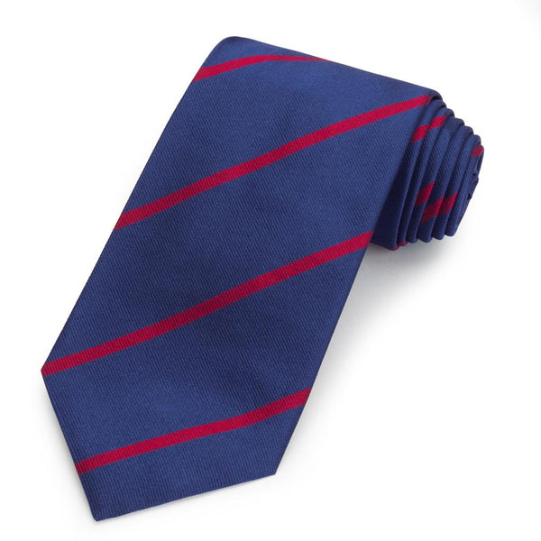 King's College London Three-Fold Silk Reppe Tie - Crofton & Hall