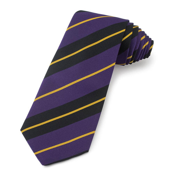 London School of Economics Three-Fold Silk Reppe Tie - Crofton & Hall