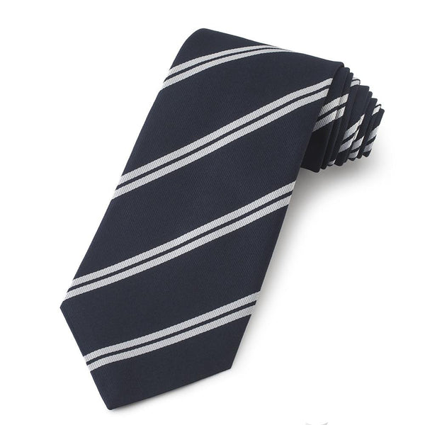 Harrow School Three-Fold Silk Reppe Tie - Crofton & Hall