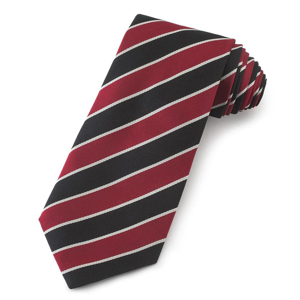 Marlborough College Three-Fold Silk Reppe Tie - Crofton & Hall