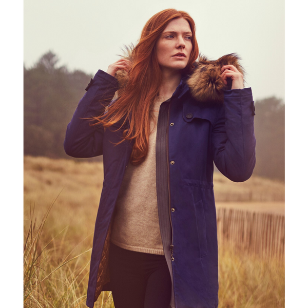 Troy Parka in Bright Navy - croftonandhall