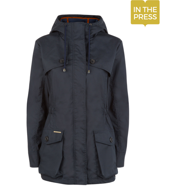Wax Parka in Navy - croftonandhall