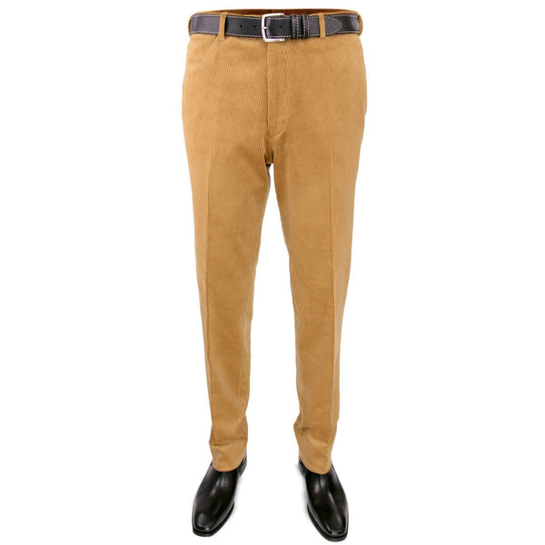 Cotton Corduroy Trousers in Tan Yellow - croftonandhall