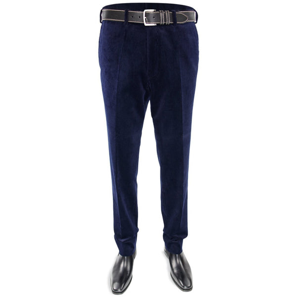 Cotton Corduroy Trousers in Navy - croftonandhall