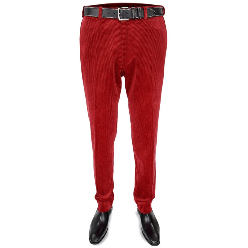 Cotton Corduroy Trousers in Red - croftonandhall
