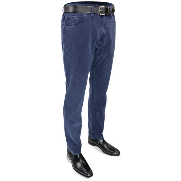 Brushed Cotton Jeans in Midnight Blue - croftonandhall