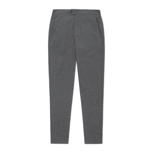 Travel Trouser - Charcoal Waffle - Crofton & Hall