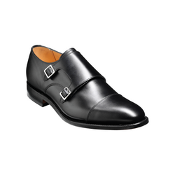 Tunstall Monk Shoe in Black Calf Leather - croftonandhall
