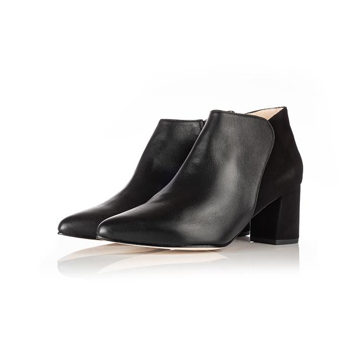 Hero Wide Fit Boots Black Suede and Leather - croftonandhall