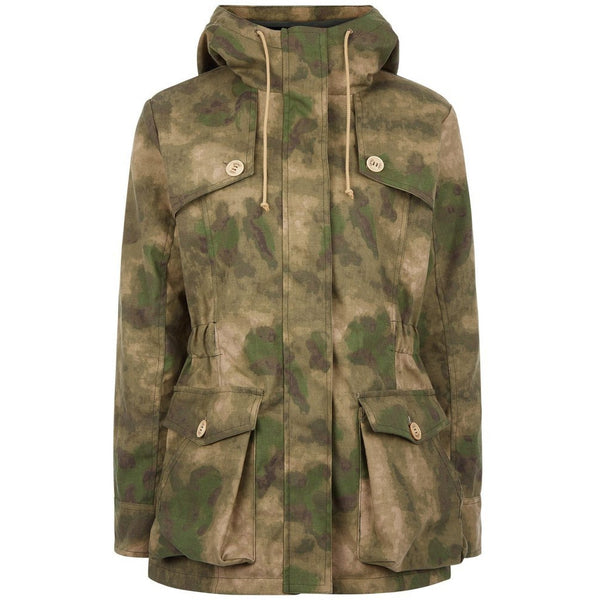 Wax Parka in Camo - Crofton & Hall