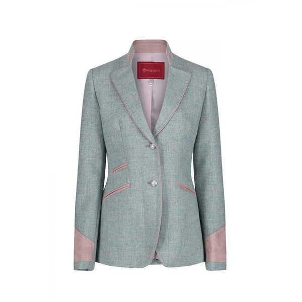 Ascot Mint Wool Fitted Jacket - croftonandhall