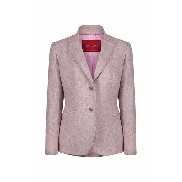 Ascot Pink Wool Fitted Jacket - croftonandhall