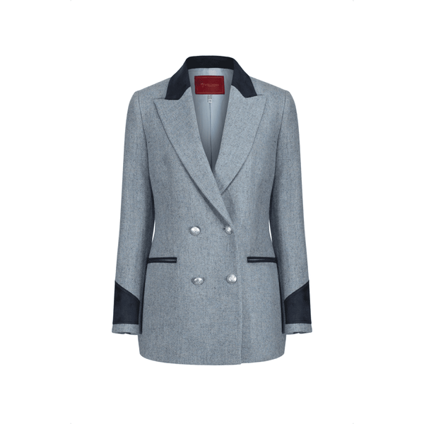 Hampton Tailored Jacket in Light Blue - croftonandhall