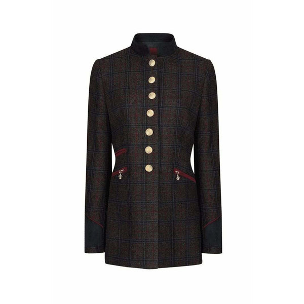 Knightsbridge Jacket in Wine - croftonandhall