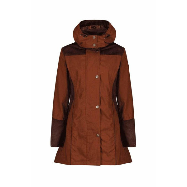 Odette Cinnamon Waterproof Breathable Windproof Coat - croftonandhall