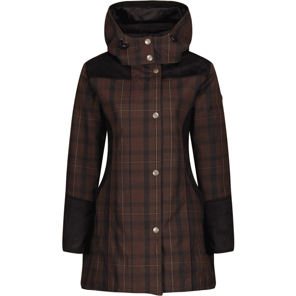 Odette Wax Check Waterproof Breathable Windproof Coat - croftonandhall