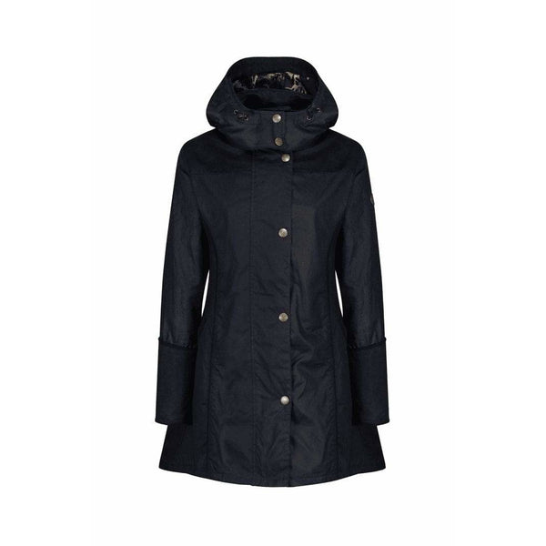 Perdita Black Wax Waterproof Breathable Windproof Coat - croftonandhall