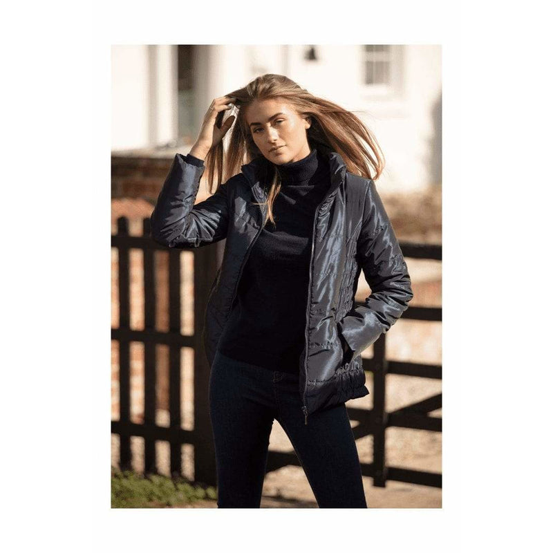 Shimmer Quilted Navy Jacket - croftonandhall