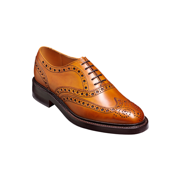 Westfield Brogue in Cedar Burnished Calf Leather - Crofton & Hall