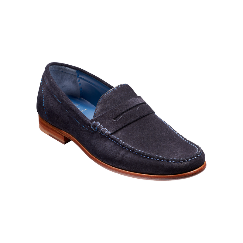 William Loafer in Dark Navy Suede - croftonandhall