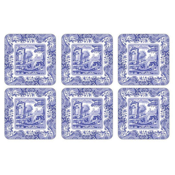 Blue Italian Coasters Set of 6 - Crofton & Hall