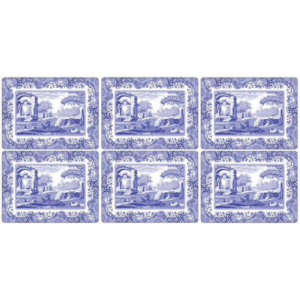 Blue Italian Placemats Set of 6 - croftonandhall