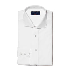 Classic Cut-away Collar White Shirt - croftonandhall