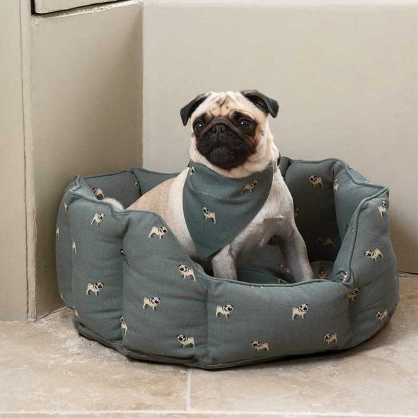 Pug Dog Bed - Small - croftonandhall
