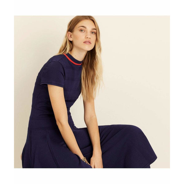 Midnight Viscose Knitted Midi Dress - croftonandhall