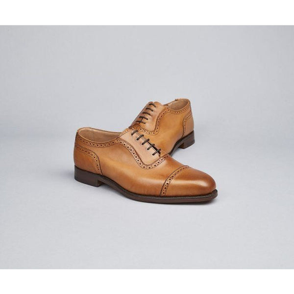 Belgrave Toecap Oxford Town Shoe in 1001 Burnished - Crofton & Hall
