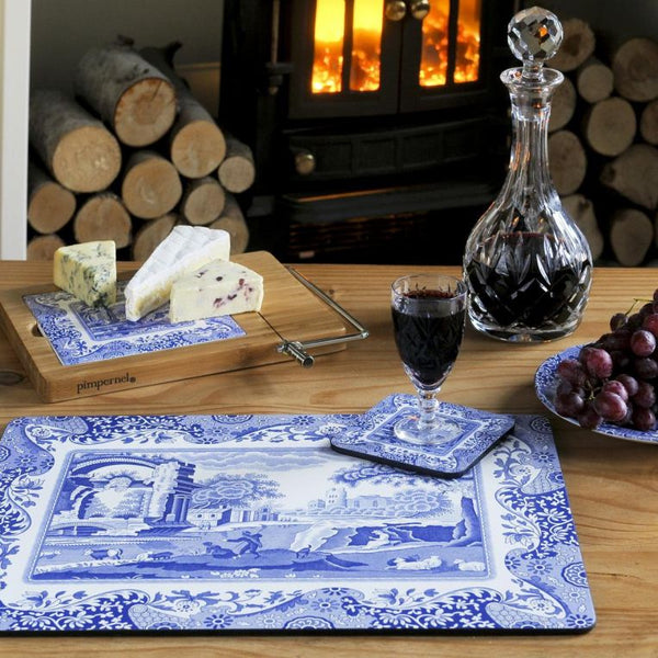 Blue Italian Coasters Set of 6 - croftonandhall