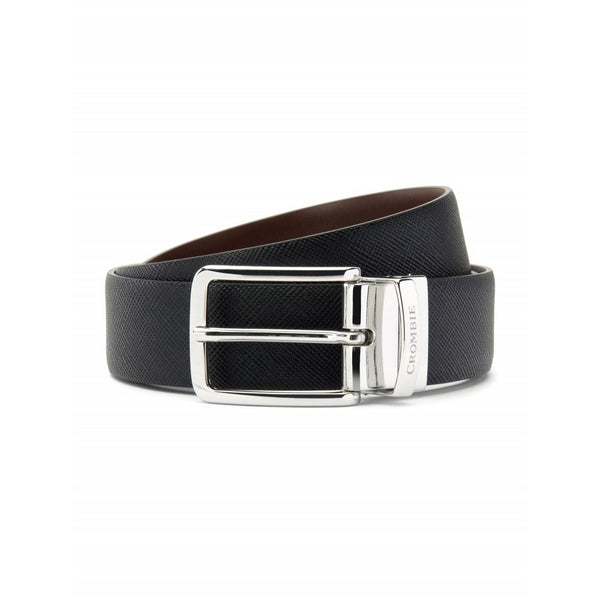 Black & Brown Reversible Leather Belt - Crofton & Hall