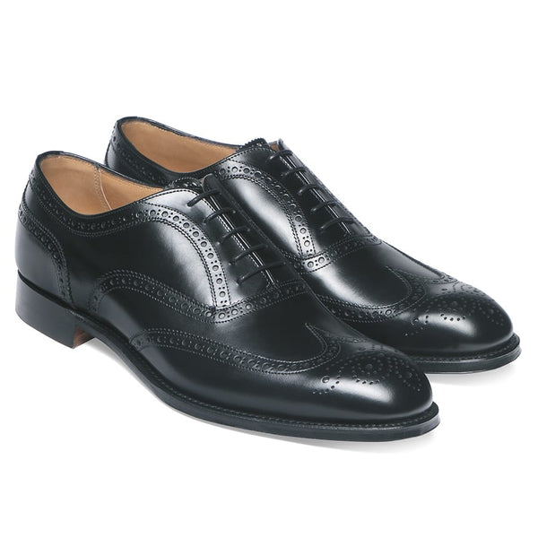 Arthur III Oxford Brogue in Black Calf Leather - croftonandhall