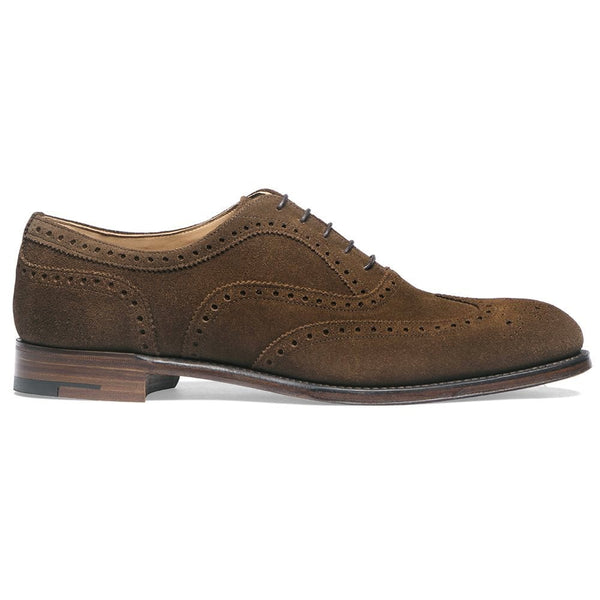 Arthur III Oxford Brogue in Plough Suede - Crofton & Hall