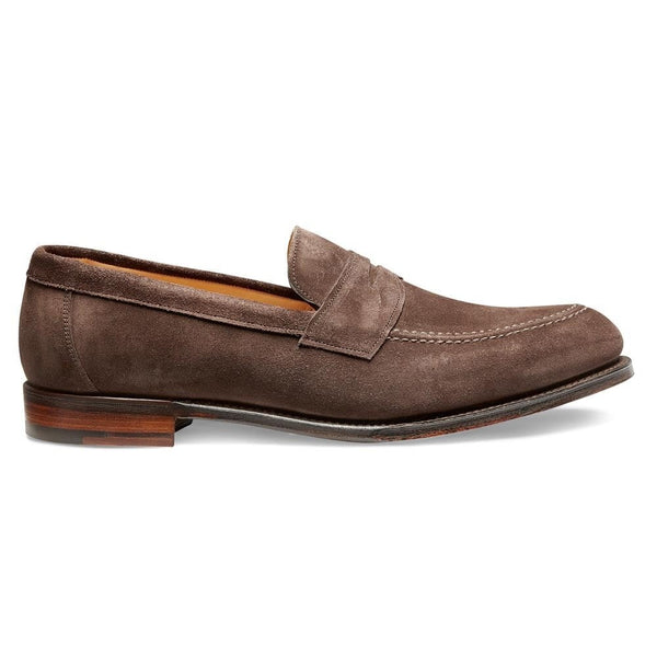Hadley Penny Loafer in Brown Suede - croftonandhall