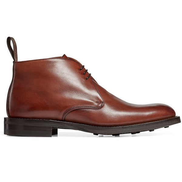 Jackie III Chukka Boot in Burnished Dark Leaf Calf Leather - Crofton & Hall