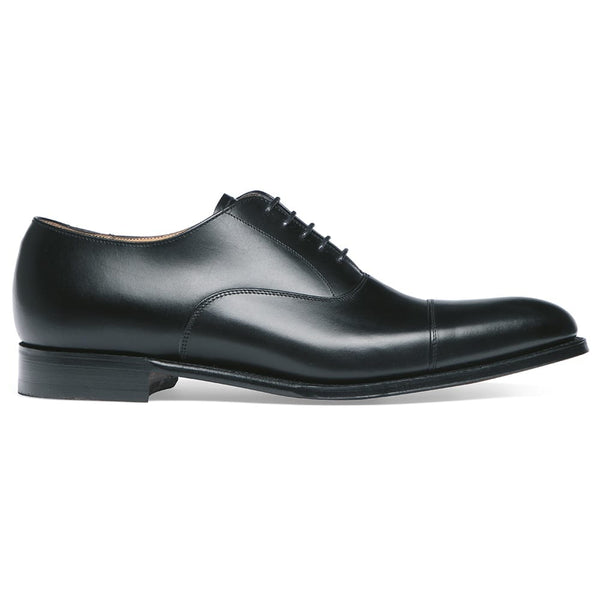 Lime Classic Oxford in Black Calf Leather - Crofton & Hall