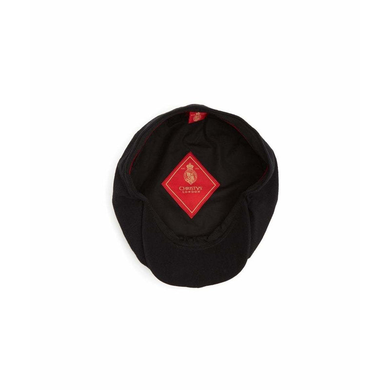 Josh 8 Piece Lambs Wool Baker Boy Cap in Black - croftonandhall