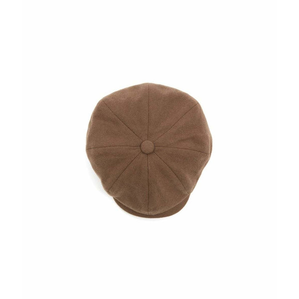 Josh 8 Piece Lambs Wool Baker Boy Cap in Camel/Brown - croftonandhall