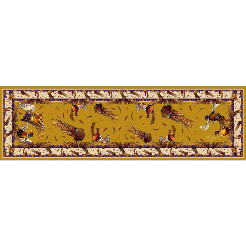 Pheasant Gold Silk Scarf - Crofton & Hall