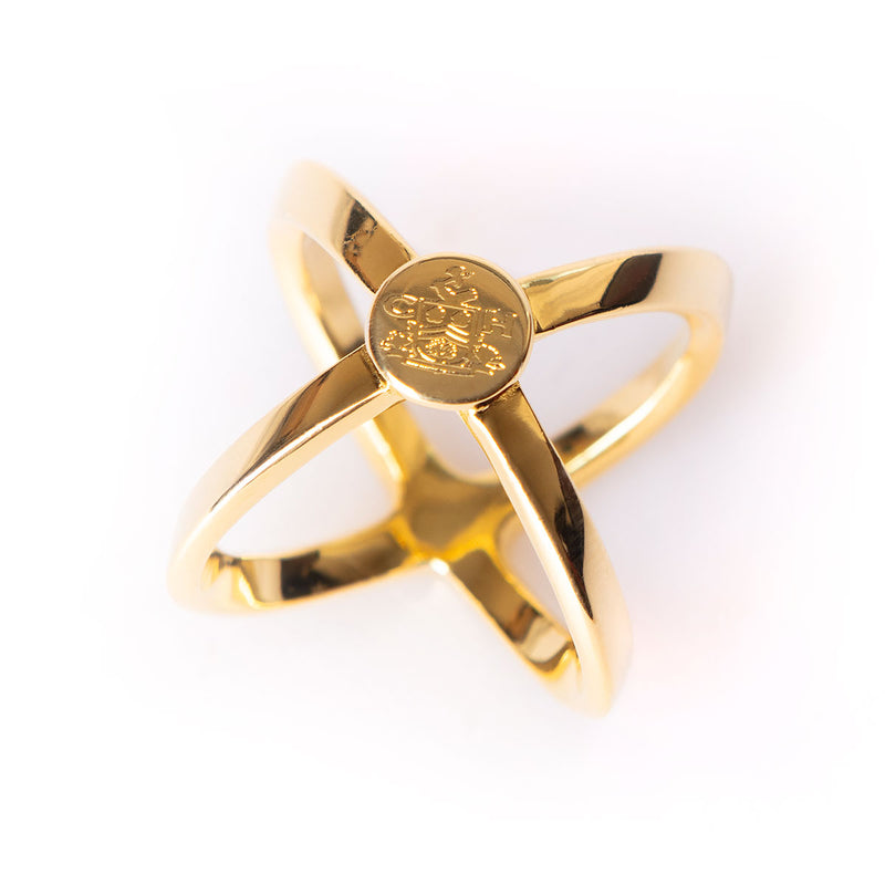 Gold Scarf Ring - Crofton & Hall