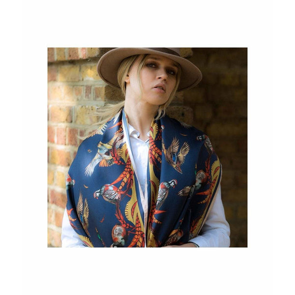 'Best in Show' Navy Limited Edition Silk Scarf - Crofton & Hall