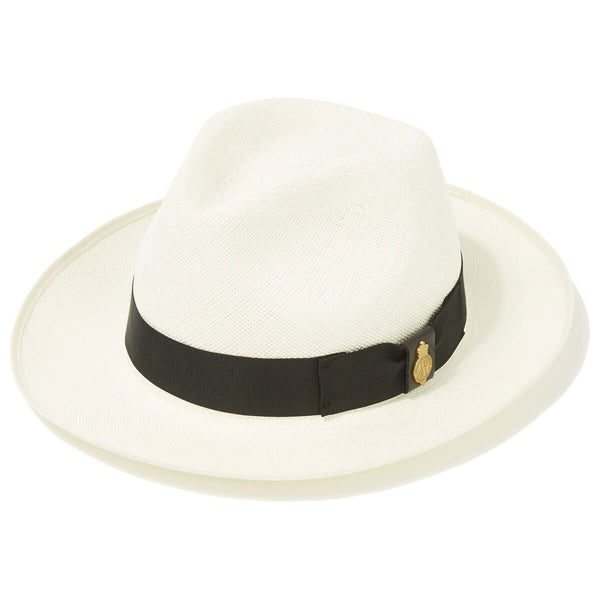 Classic Preset Superfino Panama Hat in Cream with Black Banding - croftonandhall