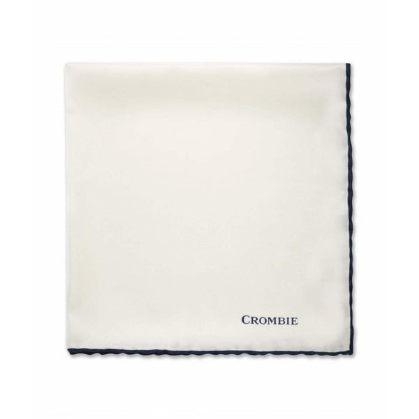 Plain White Pocket Square - croftonandhall