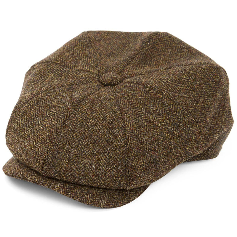 8 Piece Baker Boy in Green Herringbone Tweed - croftonandhall