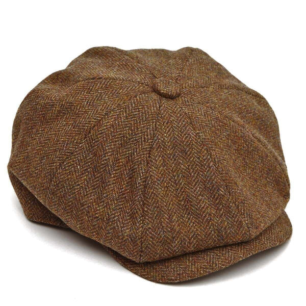 8 Piece Baker Boy in Brown Herringbone Tweed - croftonandhall
