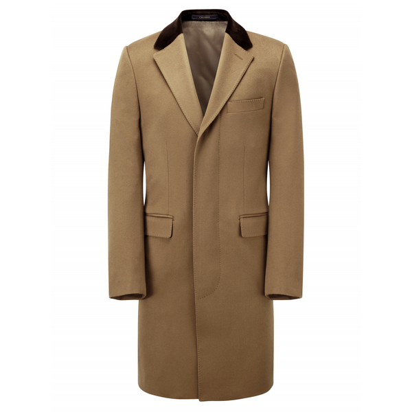 Pure Wool Camel Retro Coat - croftonandhall